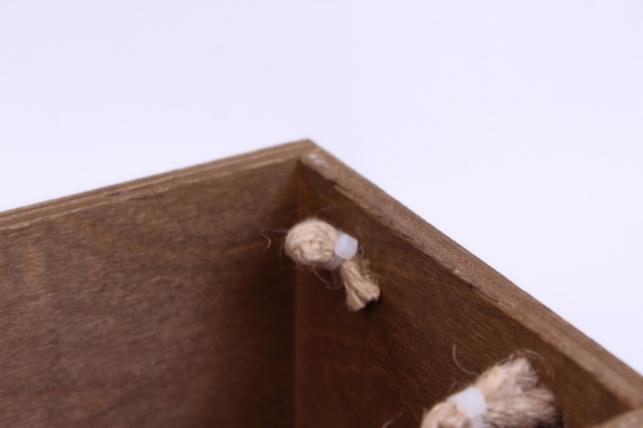 деревянныйящиксбоковымиверёвкамиstandartкоричневый26*14*10см
