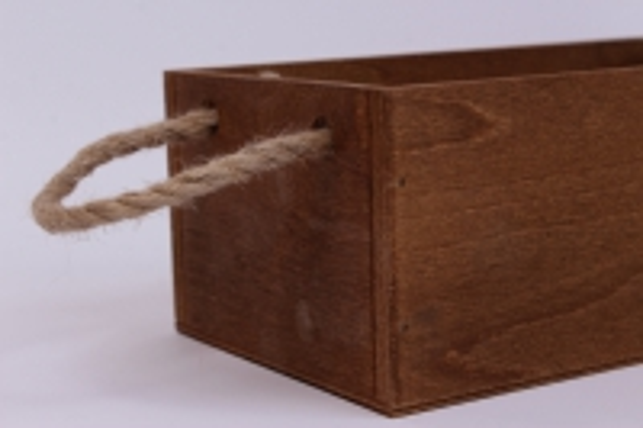 деревянныйящиксбоковымиверёвкамиstandartтёмно-коричневый26*14*10см