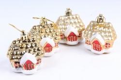 Домик-игрушка новогодняя (H-6см) (4шт) DN-31579 (И)