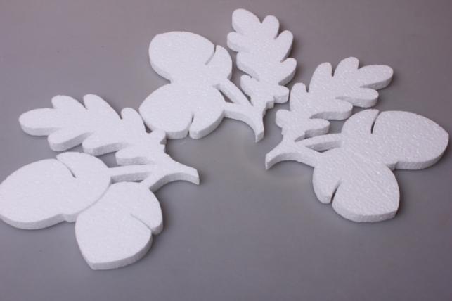 Дубовый лист с желудем - форма из пенопласта (3шт в уп) 03-Л
