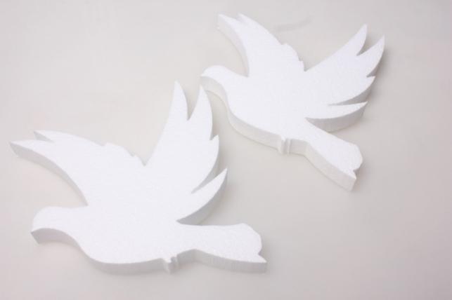 Два голубя из пенопласта 19х17х2см (2шт в уп) 02-Г