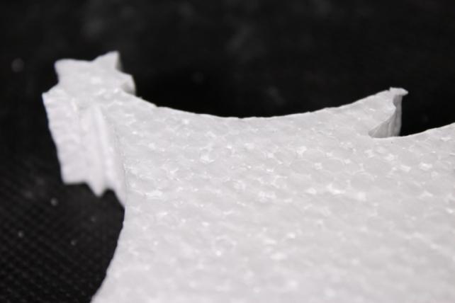 ель пенопласт со звездой малая (15*14*2см)  1шт в уп  арт. е-05