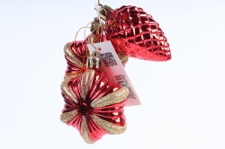 Ёлочное украшение набор (3шт) цвет: красный DN-21733 (И)