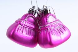 Ёлочное украшение набор (3шт) цвет: розовый DN-21731 (И)