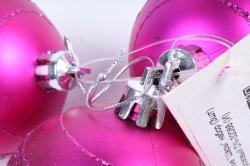 """Ёлочное украшение """"Шары"""" набор (3шт) цвет: розовый DN-32088 (И)"""