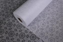 Фетр Ламинированный 50см*10м Кружево белый (Н)