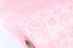 Фетр Ламинированный 50см*10м Кружево неж.розовый (Н)