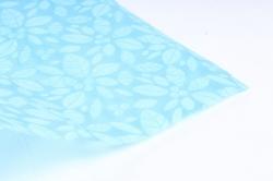 Фетр Ламинированный 50см*10м Листочки голубой (Н)