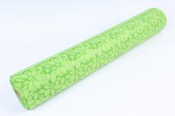 Фетр Ламинированный 50см*10м Листочки салатовый (Н)