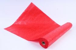 Фетр Ламинированный 50см*10м Сердечки красный  (Н)