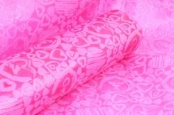 Фетр Ламинированный 50см*10м Сердечки розовый  (Н)