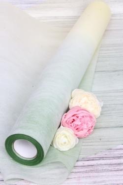 Фетр 50см х 15м Двухцветный крем-зеленыйКорея00076033