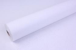 Фетр выбитый  50см 10м,  Цветы - белый  (Н)