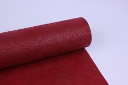 фетр выбитый  50см 10м,  цветы - бордо (н)