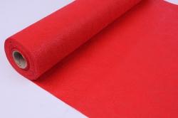 Фетр выбитый  50см 10м,  Цветы - красный (Н)