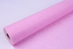 Фетр выбитый  50см 10м,  Цветы - нежно-розовый (Н)