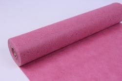 Фетр выбитый  50см 10м,  Цветы - розовый (Н)