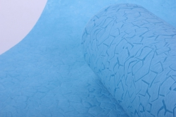 """фетр выбитый """"камни"""" голубой 50 см * 10 м (н)"""