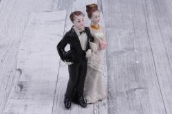 """фигурка свадебная """"пара """"  для торта микс"""