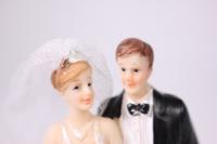"""фигурка свадебная """"пара, платье в блестках"""" (1)"""