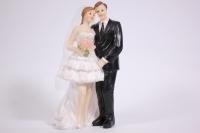 """Фигурки Жених и Невеста на торт """"Классика"""" большие h=15см"""