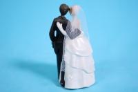 """фигурки жених и невеста на торт """"классика"""" малые (а) с розой h=9см"""