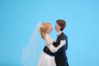 """фигурки жених и невеста на торт """"классика"""" малые (с) в танце h=9см"""