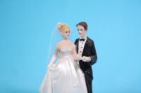"""Фигурки Жених и Невеста на торт """"Классика"""" малые (В) с платком h=9см"""