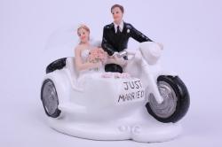 Фигурки Жених и Невеста на торт На мотоцикле h=11см