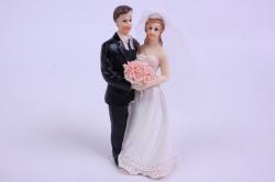 Фигурки Жених и Невеста на торт - Невеста с букетом h=10см