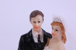 фигурки жених и невеста на торт - невеста с букетом