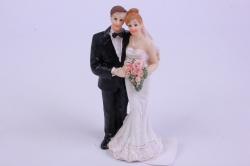 фигурки жених и невеста на торт - невеста с букетом в платье тюльпан