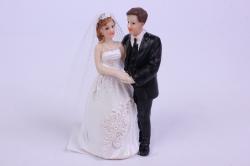 Фигурки Жених и Невеста на торт - Платье с декором h=10см