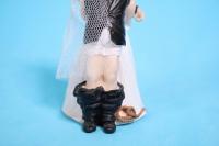 фигурки жених и невеста на торт (с приколом)- без штанов h=12cм