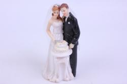 Фигурки Жених и Невеста на торт (С приколом)- С тортом h=13см