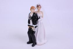 Фигурки Жених и Невеста на торт (С приколом)- С замком и ключом h=12cм