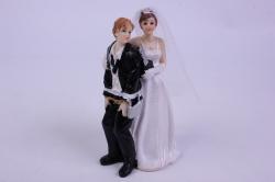 фигурки жених и невеста на торт (с приколом)- с замком и ключом
