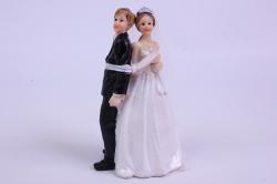 Фигурки Жених и Невеста на торт (С приколом)- Связанные h=10см