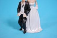 фигурки жених и невеста на торт (с приколом)- связанные руки h=12cм