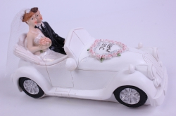 Фигурки Жених и Невеста на торт В машине h=9см