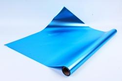Флористическая пленка, металлическая, 58 см х 5 м, Голубой (М)