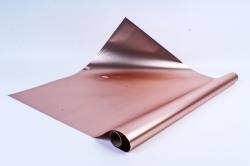 Флористическая пленка, металлическая, 58 см х 5 м, Коричневый (М)
