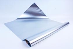 Флористическая пленка, металлическая, 58 см х 5 м, Серебро (М)