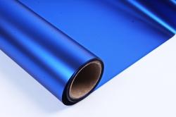 Флористическая пленка, металлическая, 58 см х 5 м, Синий (М)