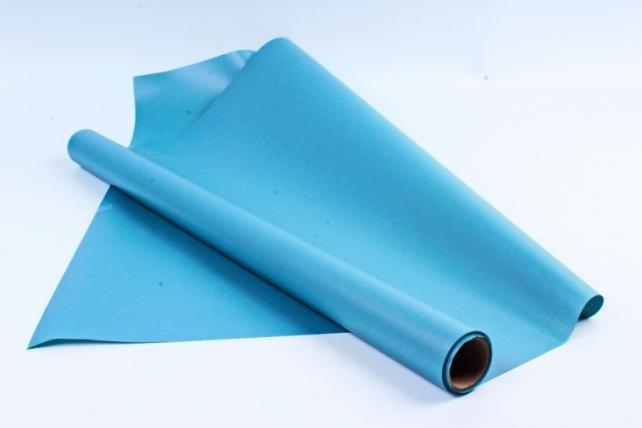 Флористическая пленка, перламутровая, 58 см х 5 м, Голубой (М)