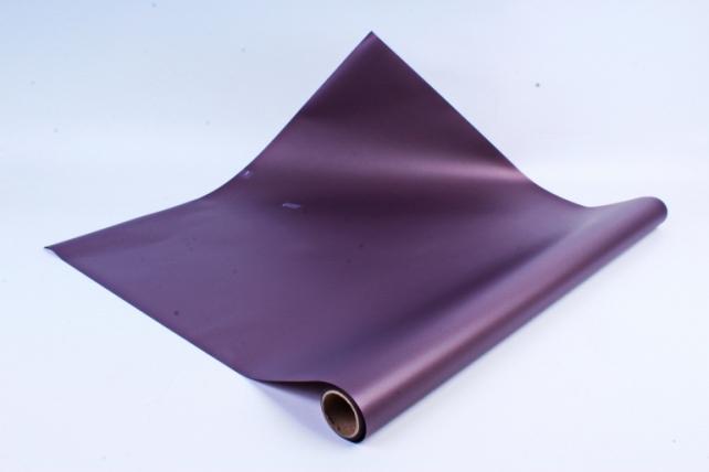 Флористическая пленка, перламутровая, 58 см х 5 м, Сливовый (М)