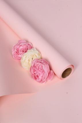 """Флористическая пленка """"Самая нужная"""", 58 см х 10 м, розово-кремовый 6560М"""