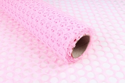 """Флористическая сетка """"Круги"""", 60 см х 5 ярд, розовый"""