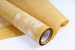 """Флористический Пергамент """"Афиша"""", 50cm*10m, (Белый на кремовом, WXP-45) (М)"""