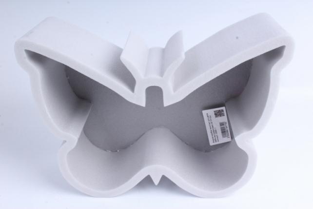 Форма-коробка пенопласт для цветов Бабочка (графитовая)